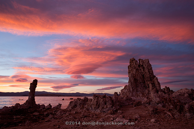 Sunset, South Tufa, Mono Lake